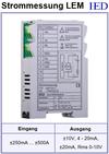 IED-Hutschienen-Module, IED-Messverstärker im Hutschienengehäuse HSM Strommessung LEM-Modul Hall-Sensor kontaktlose Strommessung