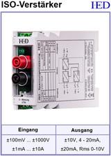 IED-Hutschienen-Module, IED-Messverstärker im Hutschienengehäuse HSM Optokoppler Isolationsverstärker