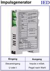 IED-Hutschienen-Module, IED-Messverstärker im Hutschienengehäuse HSM, Impulsgenerator HAD1U.I, Peak-Generator