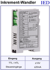 IED-Hutschienen-Module, IED-Messverstärker im Hutschienengehäuse HSM Inkrementalwandler Dekrementalwandler Dekrement-Wandler