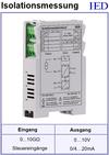 IED-Hutschienen-Module, IED-Messverstärker im Hutschienengehäuse HSM Isolationsmessung Isolationswiderstandsmessung