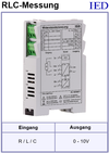 IED-Hutschienen-Module, IED-Messverstärker im Hutschienengehäuse HSM Kapazitätsmessung Induktivitätsmessung Widerstandsmessung