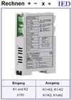 IED-Hutschienen-Module, IED-Messverstärker im Hutschienengehäuse HSM Addition Subtraktion Multiplikation Division