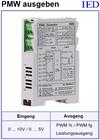IED-Hutschienen-Module, IED-Messverstärker im Hutschienengehäuse HSM PWM-Erzeugen