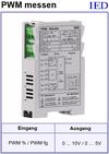 IED-Hutschienen-Module, IED-Messverstärker im Hutschienengehäuse HSM Tastgrad-Messung PWM-Frequenzmessung