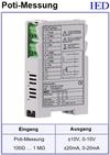 IED-Hutschienen-Module, IED-Messverstärker im Hutschienengehäuse HSM Drehwinkelmessung Poti-Messung