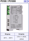 IED-Hutschienen-Module, IED-Messverstärker im Hutschienengehäuse HSM Temperaturverstärker