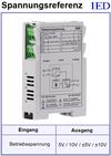 IED-Hutschienen-Module, IED-Messverstärker im Hutschienengehäuse HSM Referenzspannungsquelle Spannungsreferenz