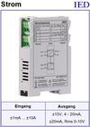 IED-Hutschienen-Module, IED-Messverstärker im Hutschienengehäuse HSM Strommessung über Shunt, kontaktlose Strommessung, Hallsensor-Strommessung