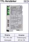IED-Hutschienen-Module, IED-Messverstärker im Hutschienengehäuse HSM TTL nach MOSFET-Verstärker TTL-Wandler