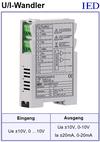 IED-Hutschienen-Module, IED-Messverstärker im Hutschienengehäuse HSM Spannung-Strom-Wandler UI-Wandler IU-Wandler