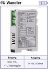 IED-Hutschienen-Module, IED-Messverstärker im Hutschienengehäuse Frequenz-Spannung-Wandler