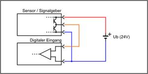 Sensor mit Push-Pull-Schaltung
